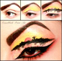 Sunset Eyelid Make Up by CrissabbathPaintArt