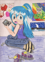 Rainbows and a DS by EmpressBlackWings