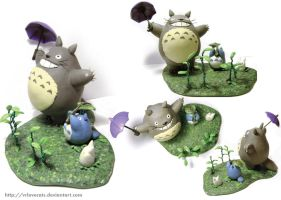 Totoro - Diorama by vrlovecats