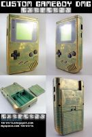 Custom Painted Hyrule Gameboy by Thretris