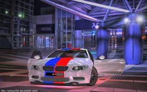 BMW M3 blue and red 3 by Artsoni3D