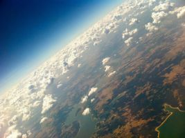 Earth from an airplane by ari1nly