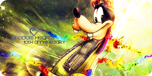 10th Anniversary Set - Goofy KH1 by Ashesofdawn253