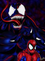 Venom And Spidey Color by okarusekai