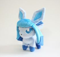 Glaceon Chibi Plush by Yukamina-Plushies