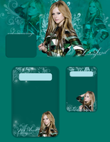 Avril Lavigne PSD layout by MiniiBogee