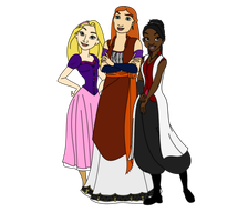 Donna, Rose and Martha by FalseDisposition