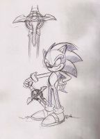 Sonic and his sword by adamis