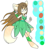 Leaf Themed Princess :CLOSED: by Jc-the-penguin