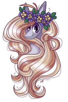 Purple pansy by ColourfulReflections
