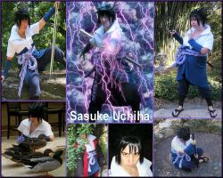 Sasuke Uchiha Cosplay Collage2 by pikabellechu