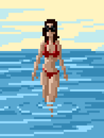 Red Swimsuit by zacharyknoles