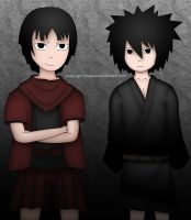 Young Hashirama and Madara Rivalry (Colored) by Copyright-Wapow