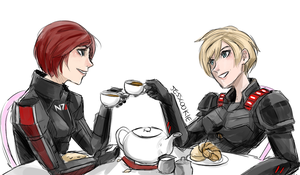 shepard and calhoun by Jesscookie