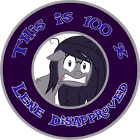 Lene Disapproved Badge by Shadowpredator100