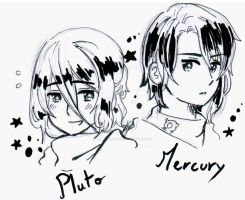 Fan Art Planetary Moe - Pluto Mercury by White-Bears