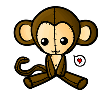 Monkey Plushie by maybirdfan