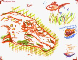 Dinosaur+cheap marker madness by autumnalangel