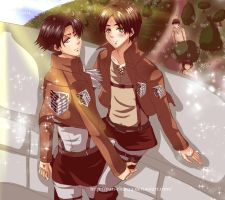Levi and Eren by Yuri-chan24