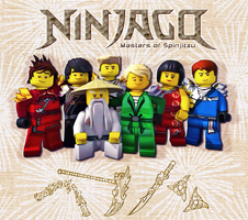 Ninjago Main Cast by kemurikat