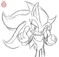 Shadow the hedgehog sketch by shadowhatesomochao