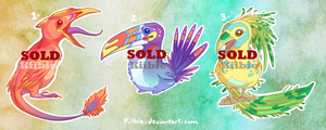 Exotic birds adoptables -CLOSED- by Kiibie-Adopt