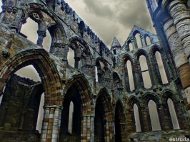Interior Of Whitby Abbey by Estruda