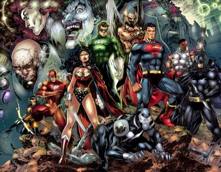 Justice League (updated) by Gwendlg