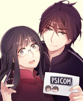 Writer-chan and Artist-kun by ROSEL-D