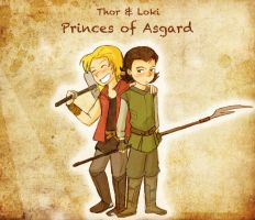 Young Brothers of Asgard by LibraryNinja