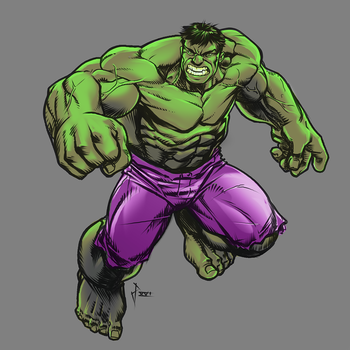 Incredible HULK sketch by sketchpimp