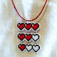 Video Game Health/Hearts Hanging Pendant by agorby00