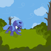 Woona With a Butterfly V1 Unshaded DAY 35.2 by DarkFlame75