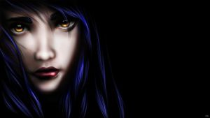 Deep Eyes (Wallpaper) + Speed Painting by LillyTalent