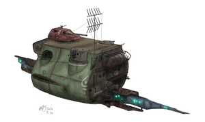 Hurriedly constructed defence ship Type-27 by Waffle0708