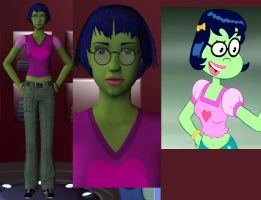 Mindy in The Sims 2 by iedasb