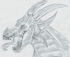 dragon head by flaviudraghis
