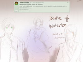 Question No. 36: Waterloo by Ask-JulchenB