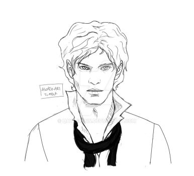 Enjolras WIP by HaylsRenn
