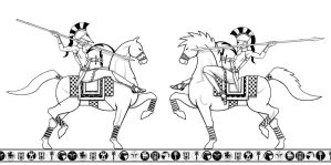 Riding Carthaginian hoplites by PHOENIX8341