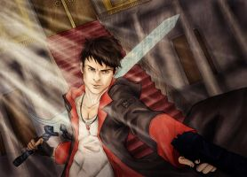 Dante DMC rebellion by Mad-Hatter----X