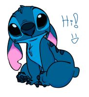 Stitch says hi 8D by Liloexp626