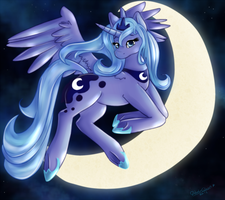 Princess Luna by WaterGleam
