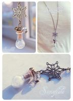 Snowflake bottle necklace by Bea-Gonzalez