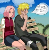 NaruSaku_on_a_date by ztrickfy