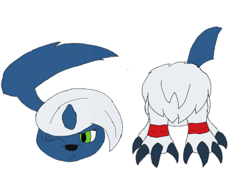 Aiko the 'Headless' Absol (For FireLucario) by unownace