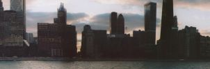 Chicago Cloudscape Panorama by washwithcare