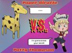 Giraffe Vs. Patty by Octoyaki