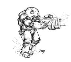 Space Marine by belivefurrs