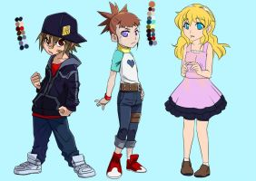 Digimon tamers: mirai 10 y/o cast by Riza23